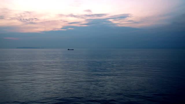 Ocean ripple with Beautiful Clouds in Sky in dawn video