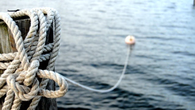 Ocean Rope and Bouy Background video