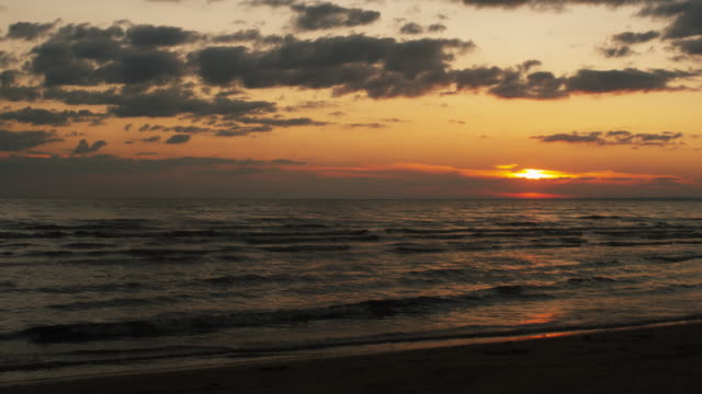 Ocean Seascape in Sunset Time. video