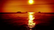 Ocean sunset video