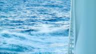 Ocean Swells Crashing Against Cruise Ship Hull video