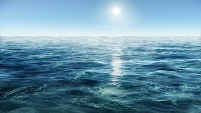 Ocean wave water video