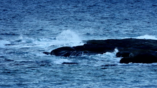 Ocean Waves Breaking On Rocks video