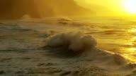 Ocean Waves Crashing on Shore video