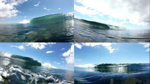 Ocean Waves Crashing Split Screen Collage video