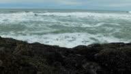 Ocean waves crashing video