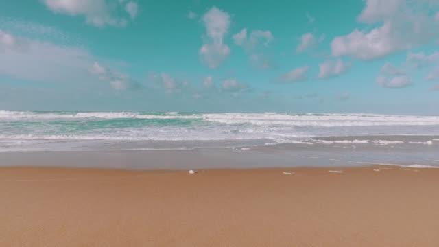 Ocean Waves Incoming on Sand Beach video