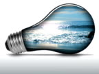 Ocean waves inside light bulb - NTSC video