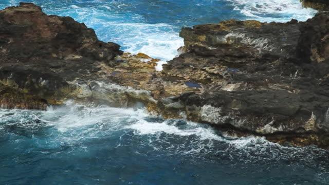 Ocean Waves on Rocks video