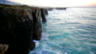 Ocean waves rolling on rocks, Ribadeo video