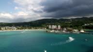 Ocho Rios aerial view video
