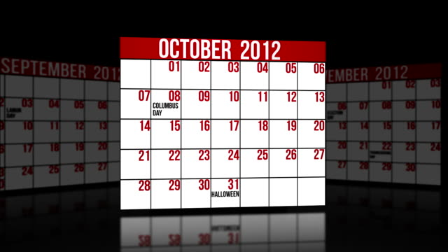 October, November, December 2012 video