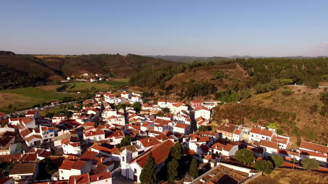 Odeceixe - Portuguese tourist town aerial view video