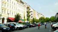 Oderberger Strasse In Berlin Prenzlauer Berg (4K/UHD to HD) video