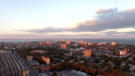 Odessa downtown aerial video