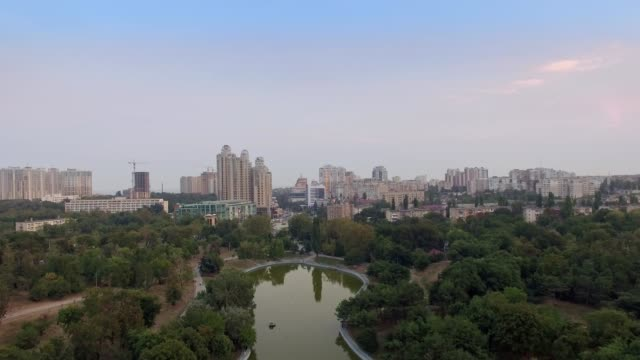 Odessa Victory Park and Arcadia Aerial video