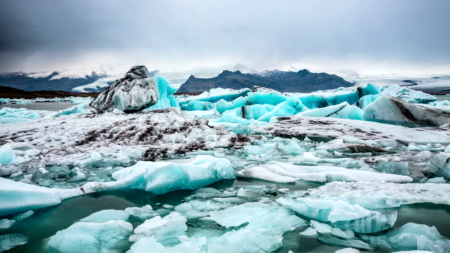 TIME LAPSE of Icebergs at  Jokulsarlon Glacier Lagoon Iceland video