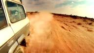 Off road in desert in Africa. video