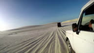 Off road jeeps driving through desert video