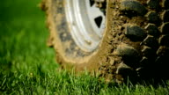 Off road tire full of mud video