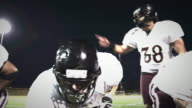 Offensive football running play - time remapped video