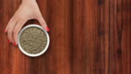 Offering dried thyme video