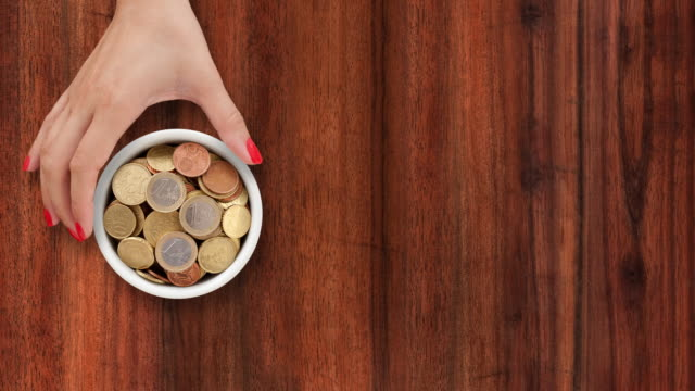 Offering euro coins video