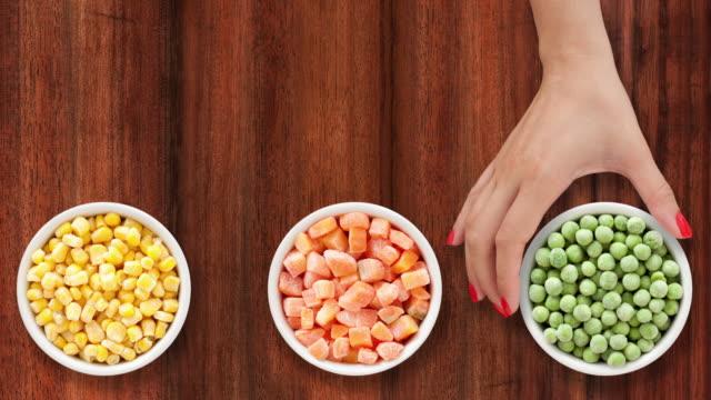 Offering frozen vegetables video