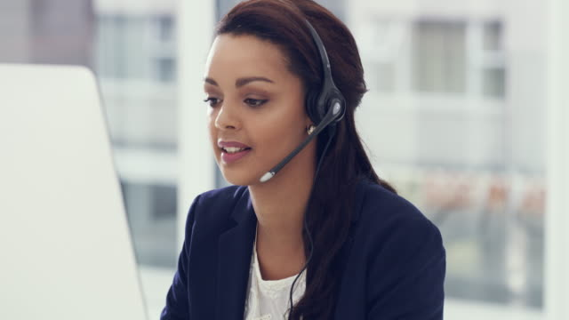 Offering her expert assistance to a client in need video