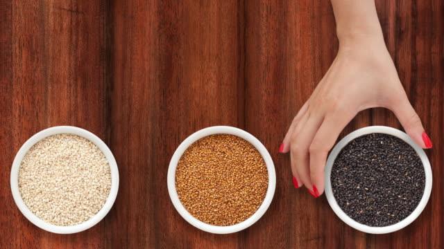 Offering sesame seeds video