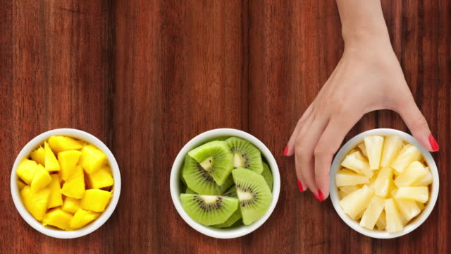 Offering tropical fruits video