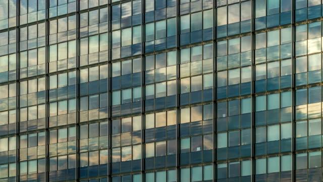 Office building facade DSLR timelapse video