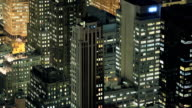 Office buildings at night video