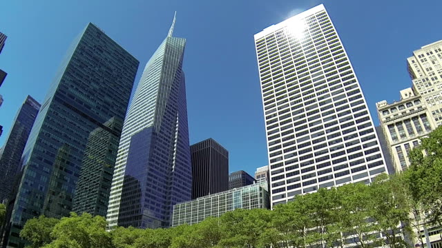 Office buildings in Bryant Park, New York video