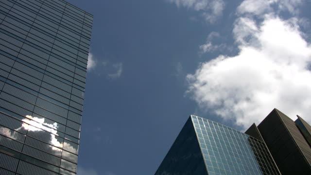Office buildings. Timelapse sun & clouds. video