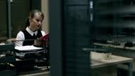 Office clerk at work video