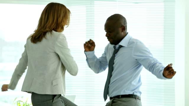 Office dancing video