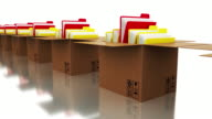 Office Document Folders and Cardboard Boxes video