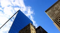 Office Towers With Moving Sky video