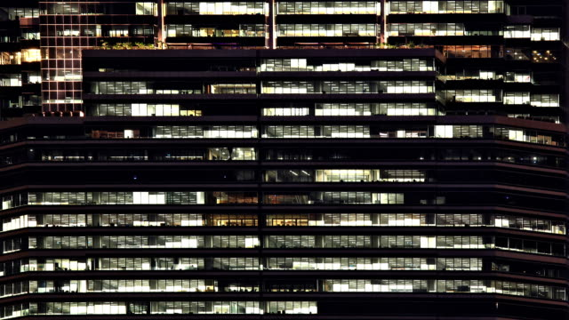 Office Window Night Time lapse video