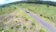 SUV Off-road Aerial video