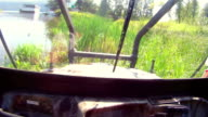 Offroad vehicle cabin video