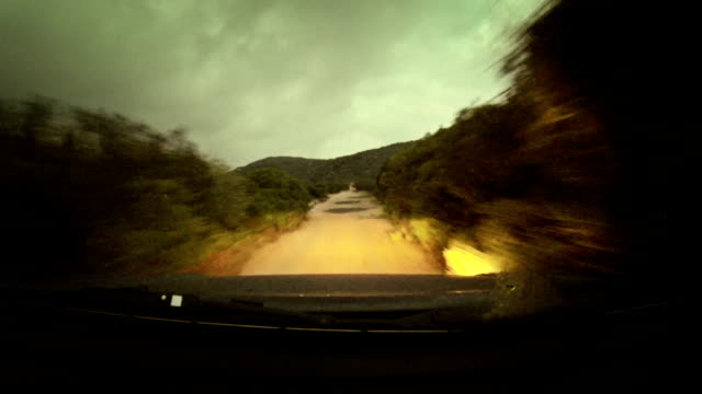 Off-road vehicle Car Onboard Camera at night video