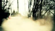 HD - Offroad Vehicle on Dirt Road Speeding video