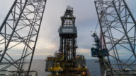 offshore drilling rig 4k time lapse day to night video