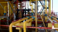 Offshore gas and oil production platform processing system video