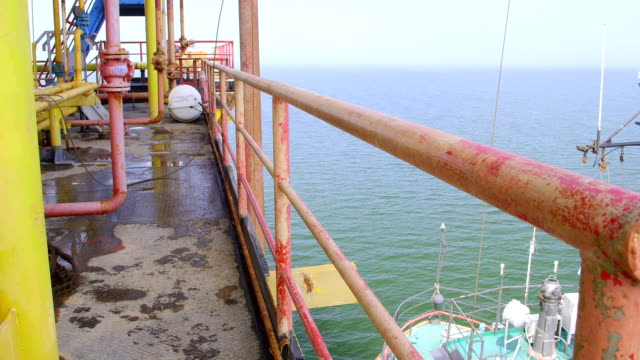 Offshore gas and oil production platform video