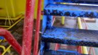 Offshore gas production platform components video