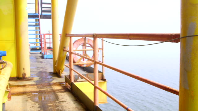 Offshore gas production platform equipment video