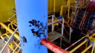 Offshore gas production platform facilities video